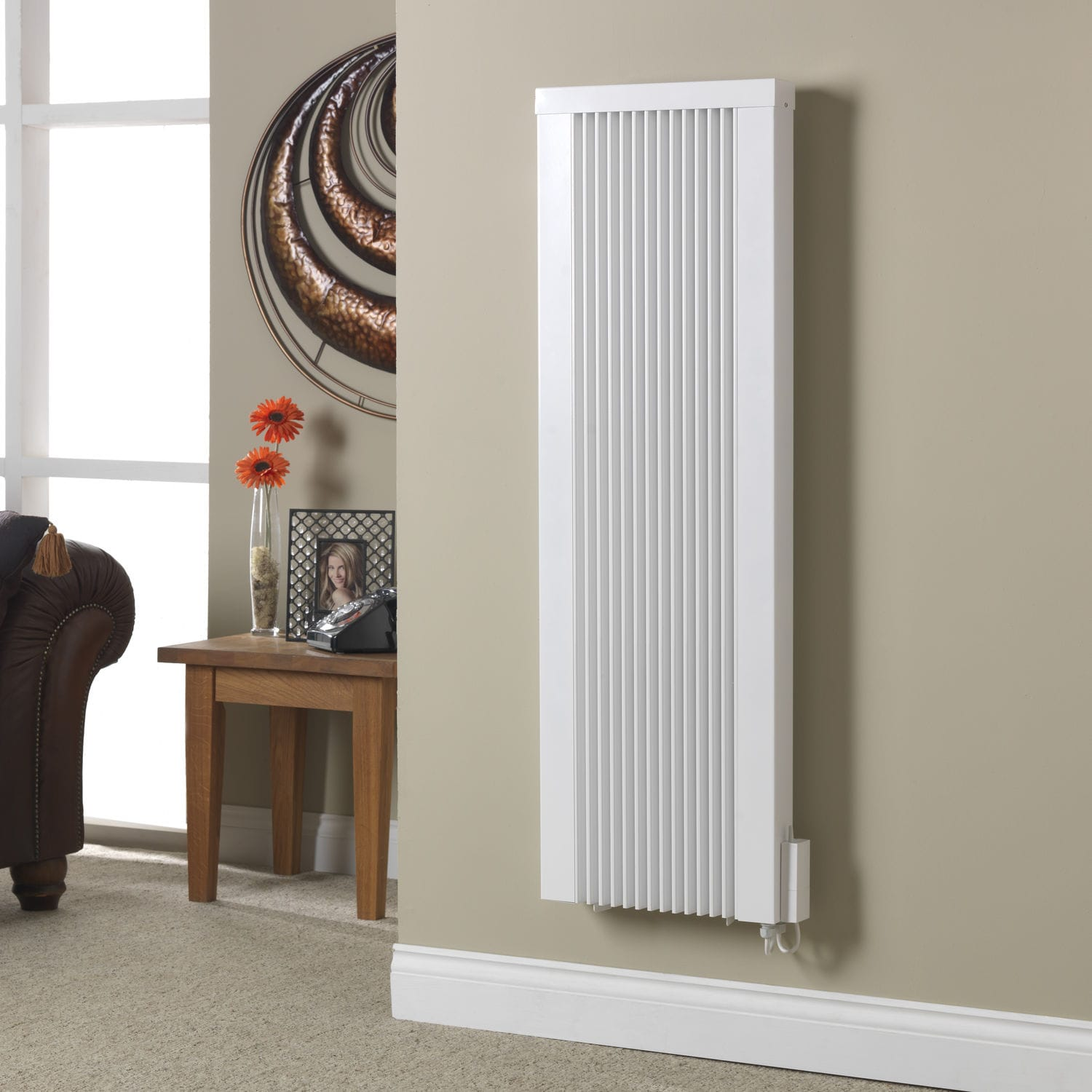 Slimline electric heaters wall mounted - Electric Radiator Metal Contemporary Vertical Tt Ks H Technotherm
