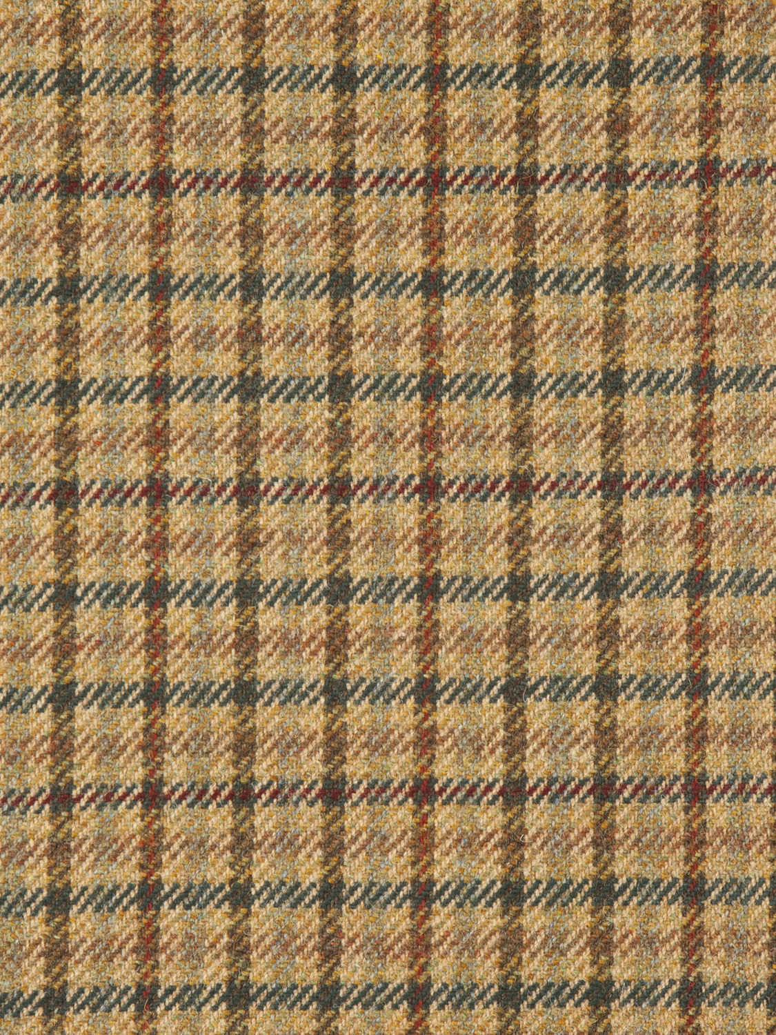 Upholstery Fabric Plaid Wool County Tweed Holland Sherry