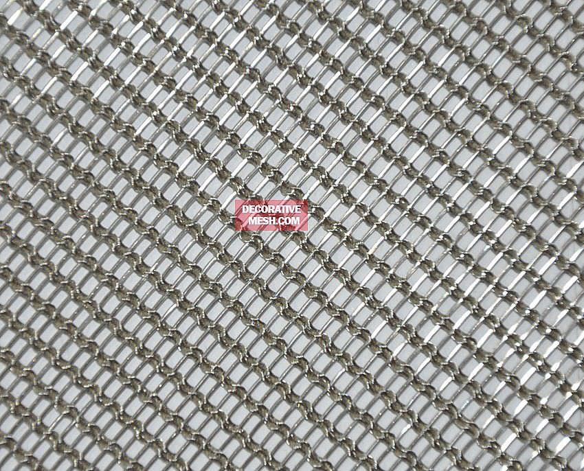 Wire facade mesh / for interior / stainless steel / elongated mesh ...