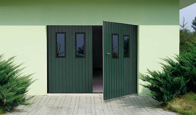 Swing Garage Door Galvanized Steel Manual DOUBLELEAF WISNIOWSKI - Porte garage double