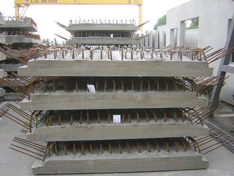 Reinforced Concrete Precast Core Floor Slab / For Level Crossings