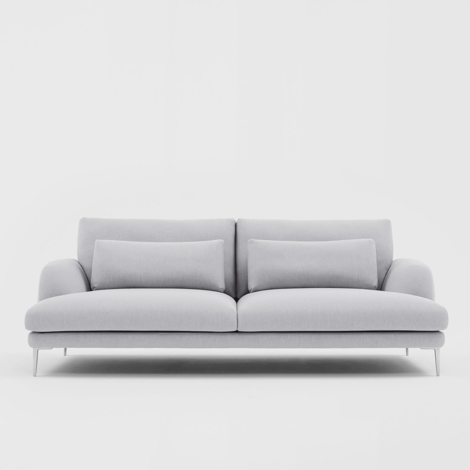 Contemporary sofa fabric 2 person white classic by krystian kowalski
