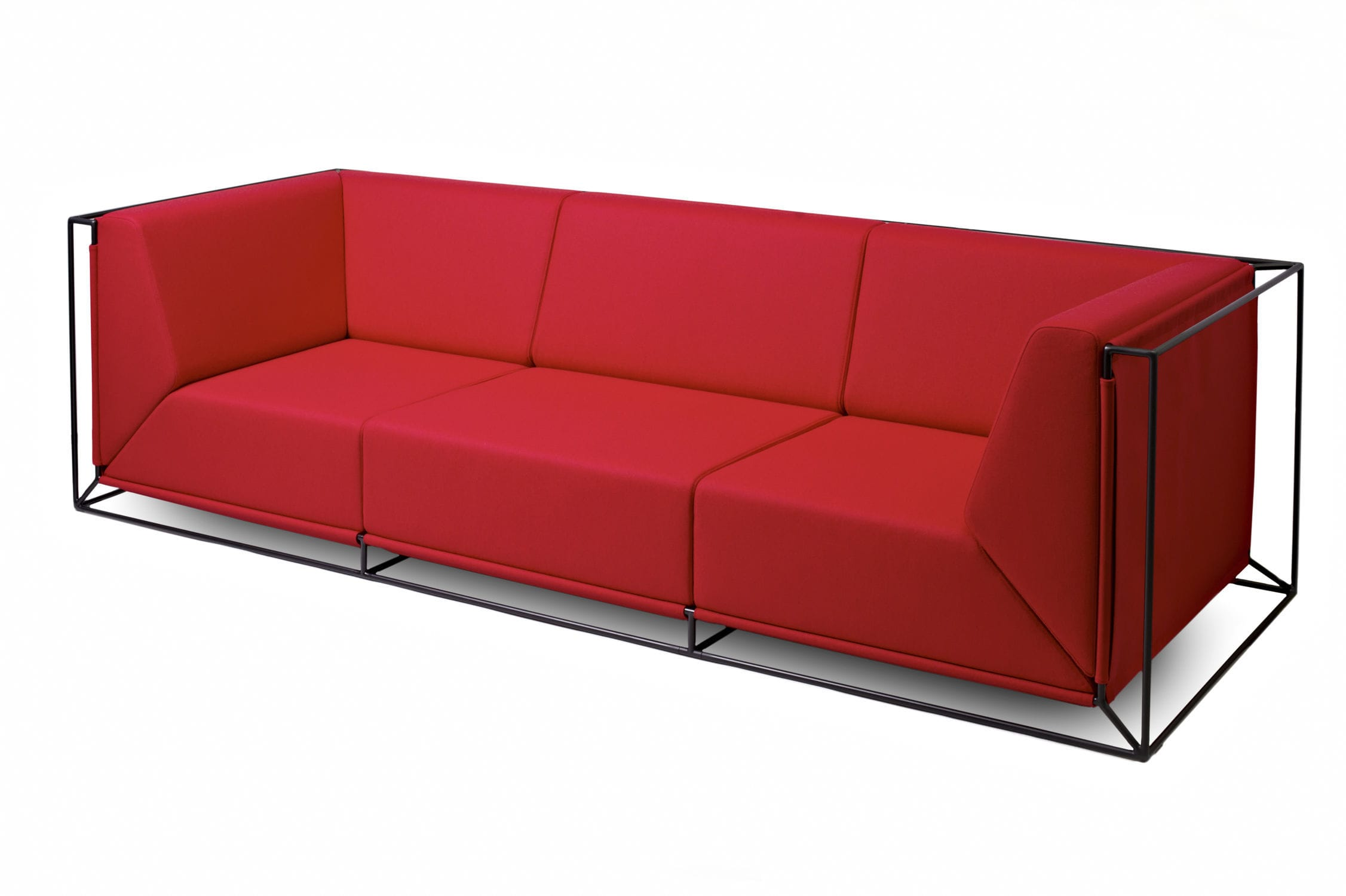 modular sofa contemporary fabric by philippe nigro