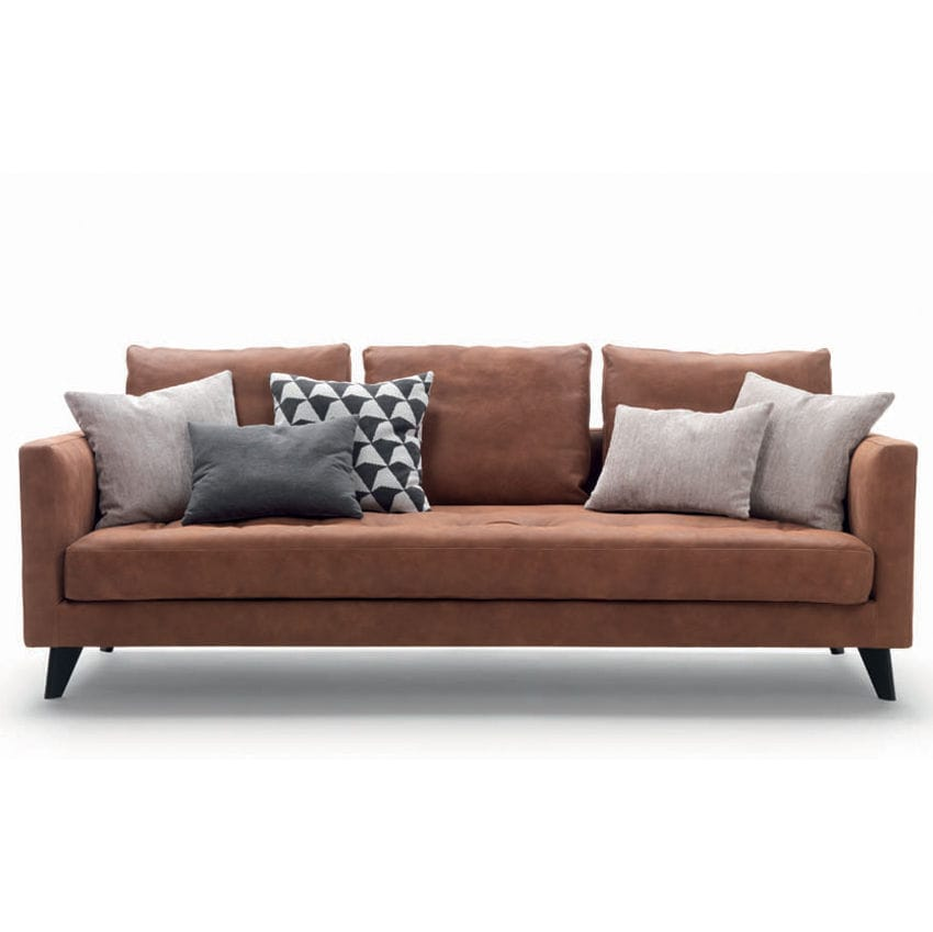 Compact Sofa Contemporary Fabric Leather Willy Slim Marac Srl