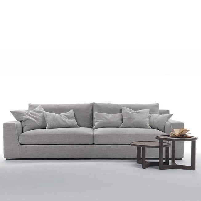 Corner Sofa Contemporary Fabric With Removable Cover Granmilano