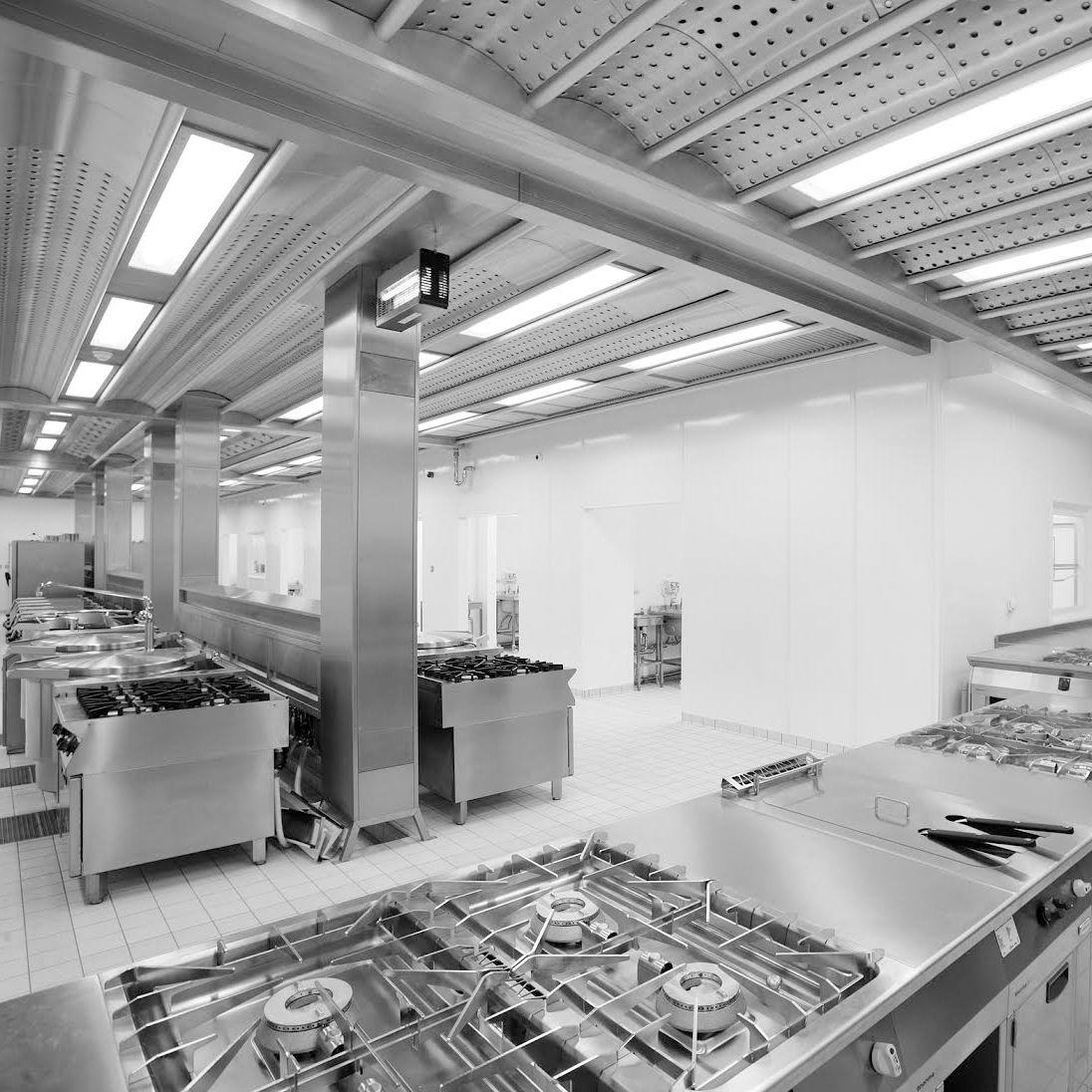 Commercial ventilated ceiling - SPANTILE CEILING - Vianen Kitchen ...