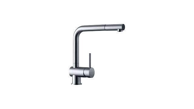 Chromed Metal Mixer Tap Stainless Steel Kitchen 1 Hole Perla
