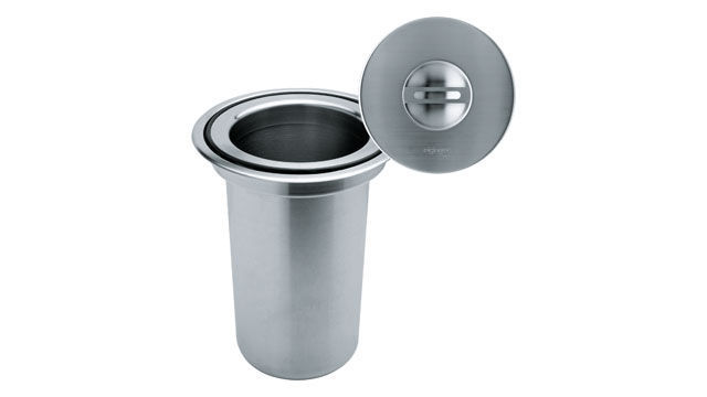 Kitchen Trash Can / Stainless Steel / With Built In Ashtray / Contemporary    KEA