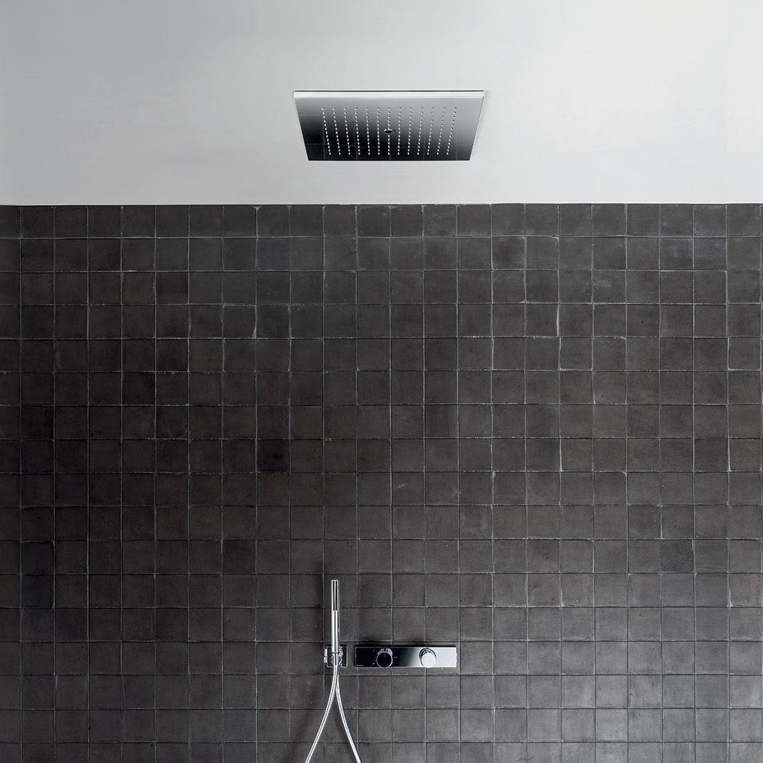 Ceiling mounted shower head rectangular rain acquadolce ceiling mounted shower head rectangular rain dailygadgetfo Choice Image