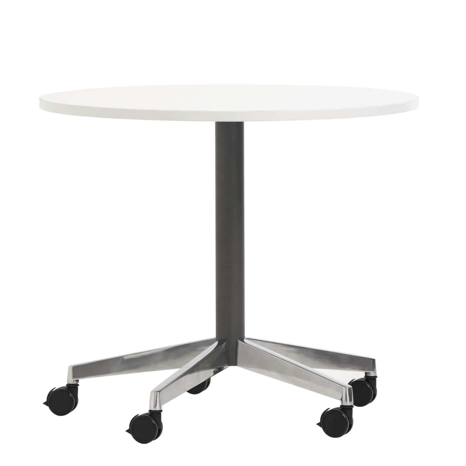 Contemporary bistro table steel melamine laminate TOUCH
