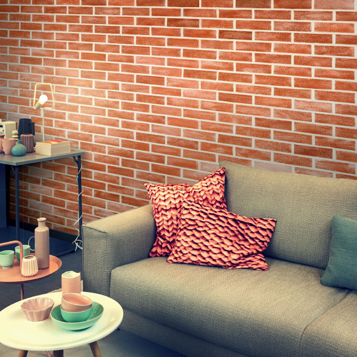 Wonderful Decorative Coating / Interior / For Walls / Plaster   BRICKS