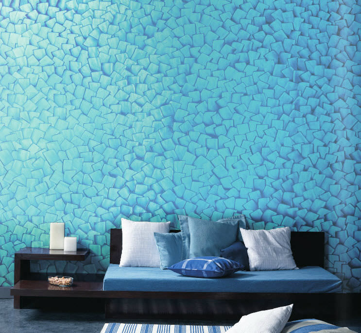 Decorative coating interior for walls water based SPATULA