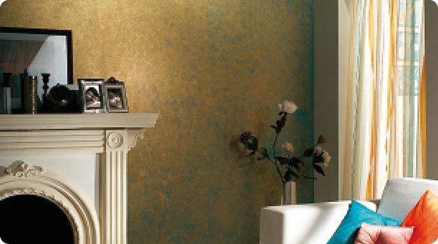 Decorative paint for walls interior metallic look sponging