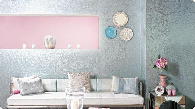 Decorative paint for walls interior metallic effect DAPPLE