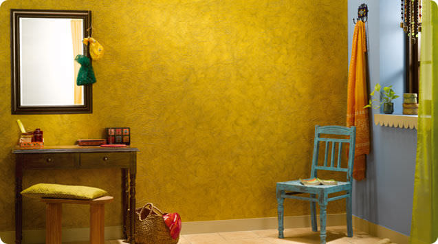 Decorative paint for walls interior metallic look CRINKLE