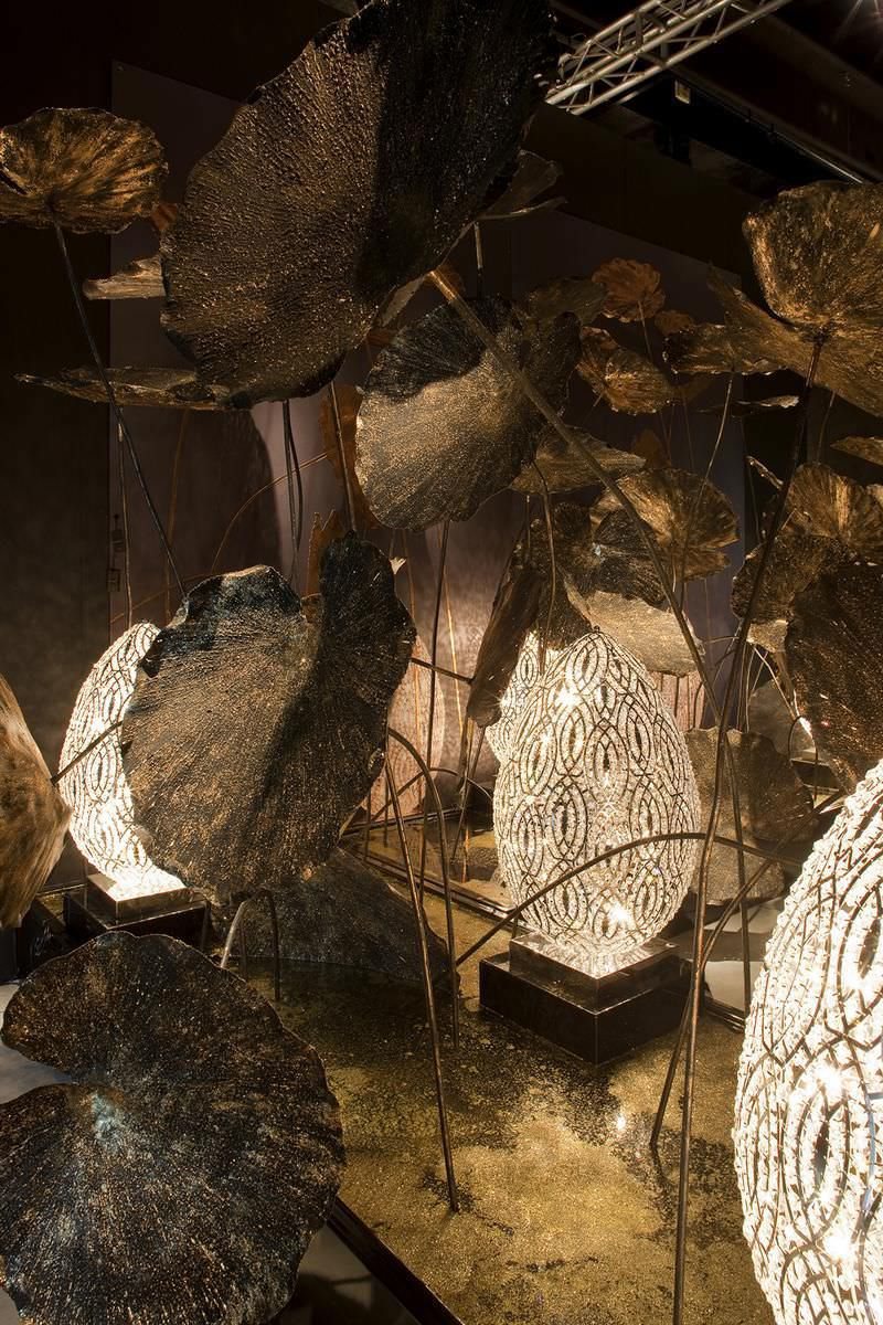 floor lamp / original design / crystal / stainless steel ... - Larabesque Lampade