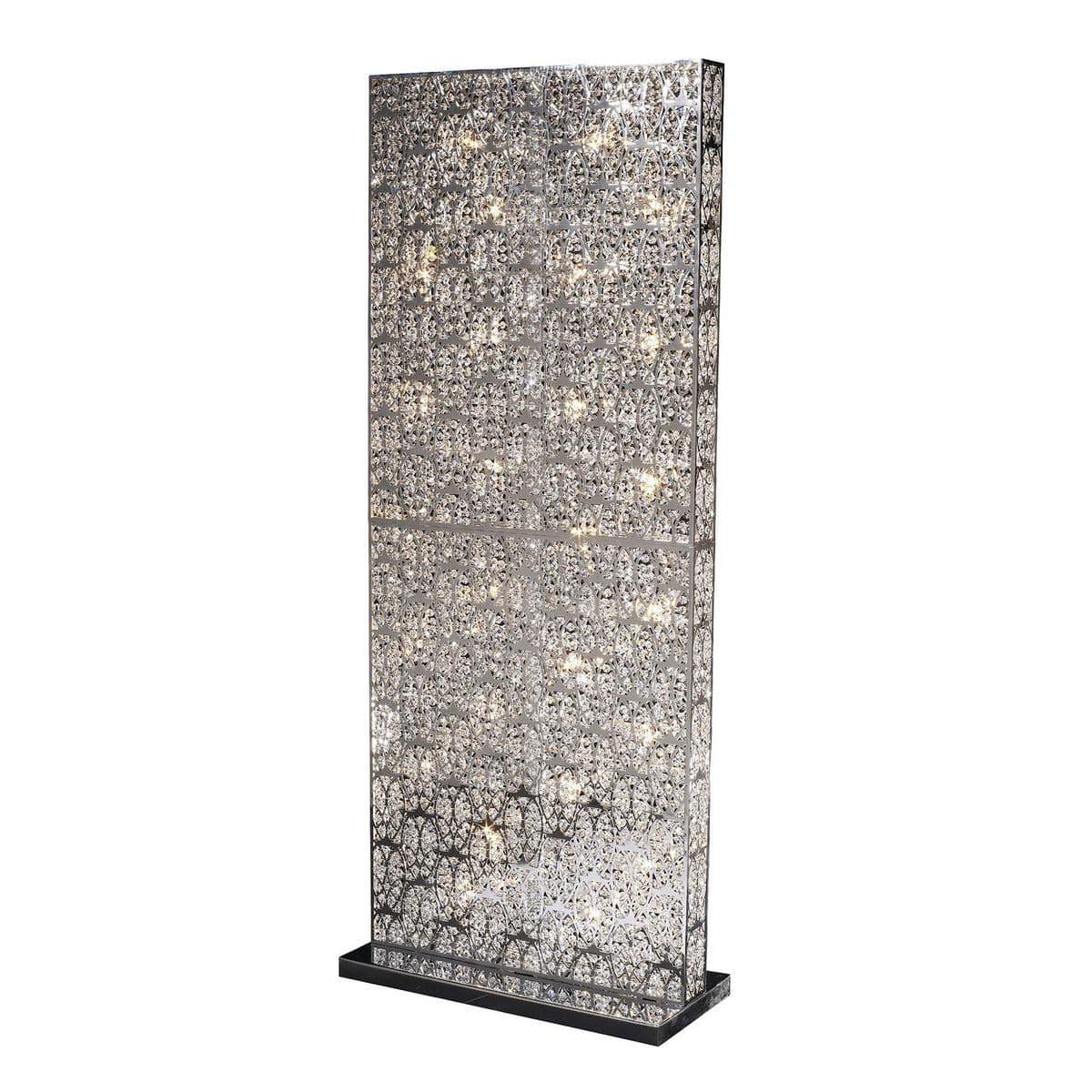 floor-standing lamp / original design / crystal / stainless steel ... - Larabesque Lampade