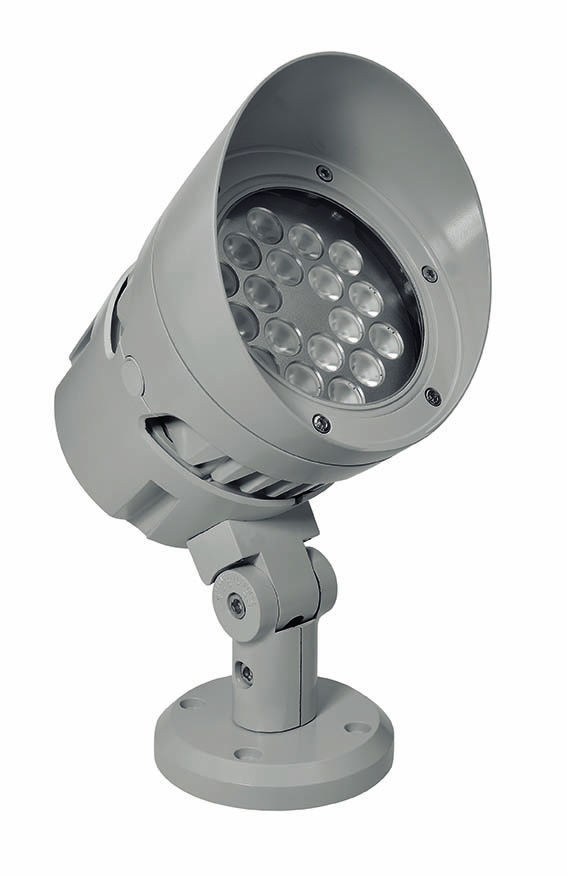 Wall mounted spotlight outdoor led round hydrosky puk lighting wall mounted spotlight outdoor led round mozeypictures Gallery