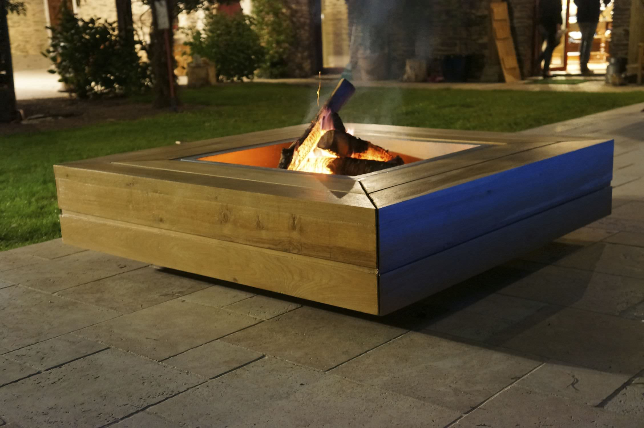 Wood-burning fire pit / with barbecue - KRONOS/KUB