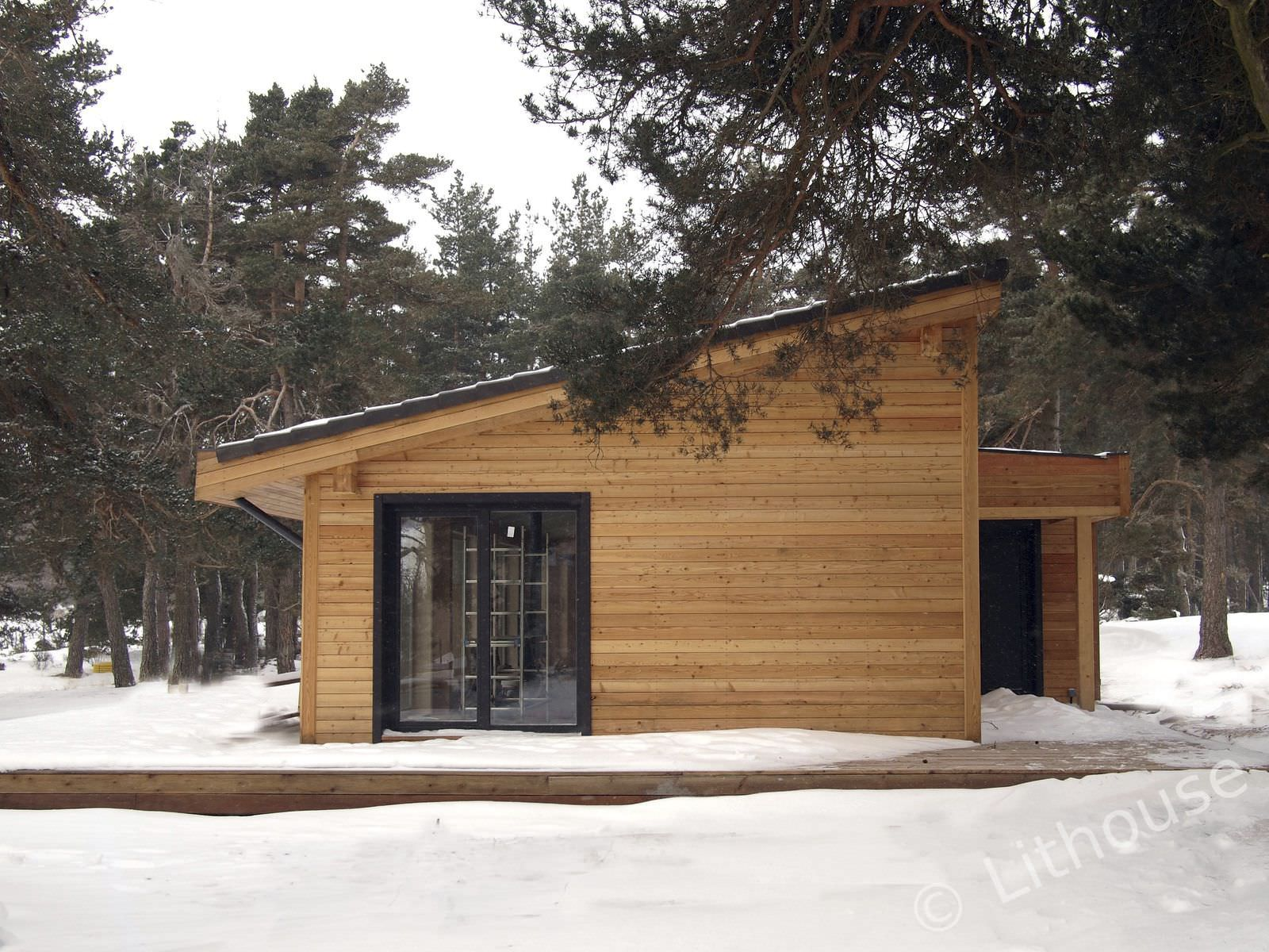 prefab house / contemporary / wood / wooden frame - flo & eric
