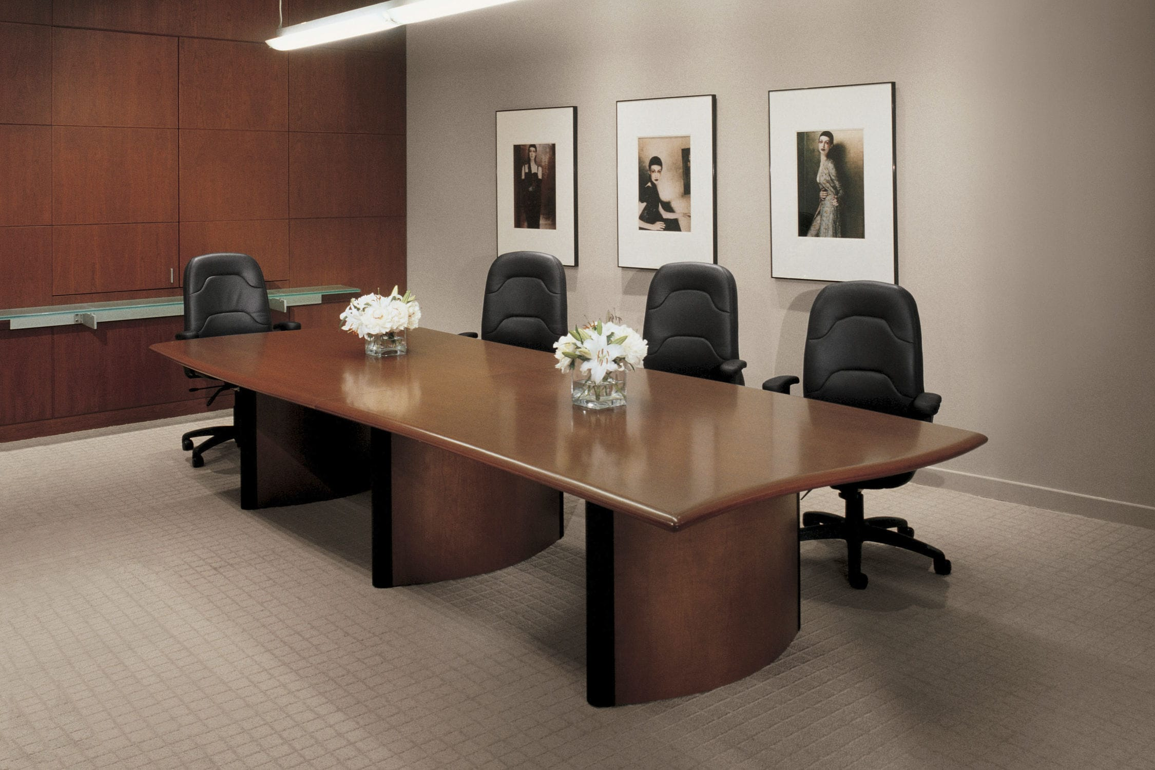 Contemporary Conference Table Wooden Rectangular Oval Global AD - Global conference table