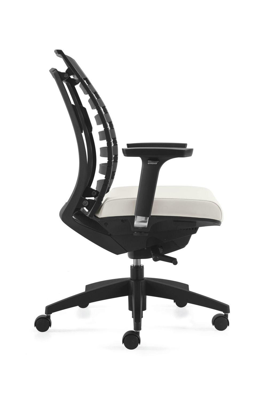 Contemporary Office Armchair Polypropylene Fabric