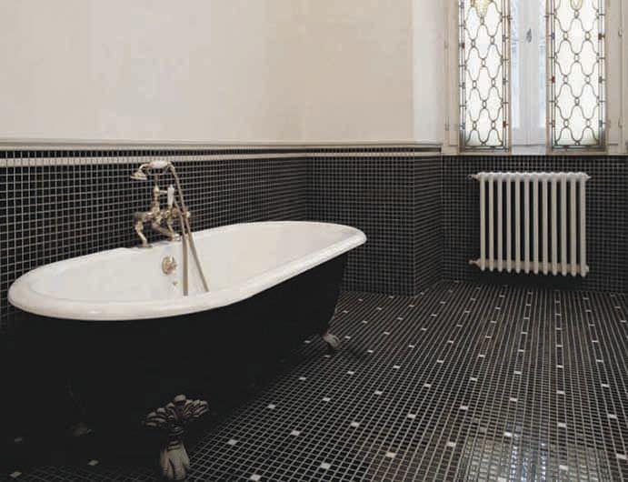 Indoor Mosaic Tile Bathroom Floor Ceramic Appiani Mix Nemo