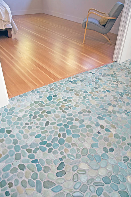 Indoor Mosaic Tile Bathroom Floor Stone PEBBLE SERIES NEMO - Pebble tiles for bathroom floor