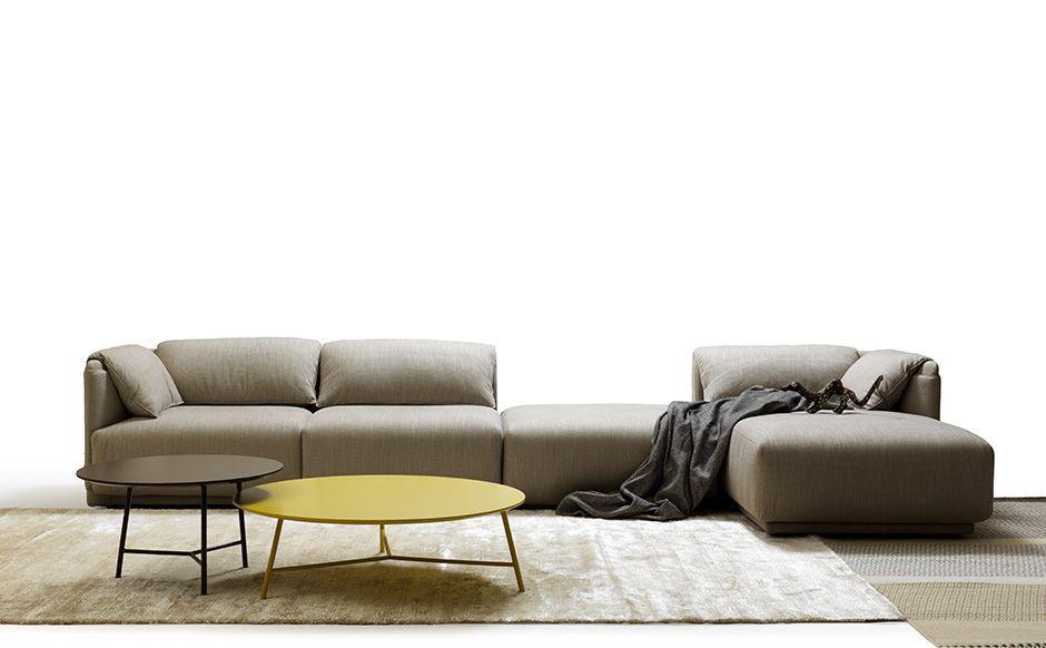 Contemporary Sofa / Fabric / Leather / Polyurethane Foam ...