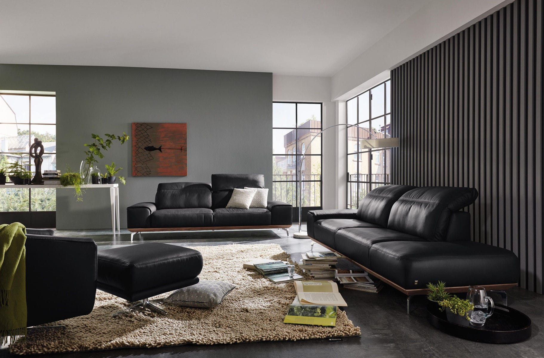 Modular Sofa Contemporary Fabric Leather MR 2490 Musterring