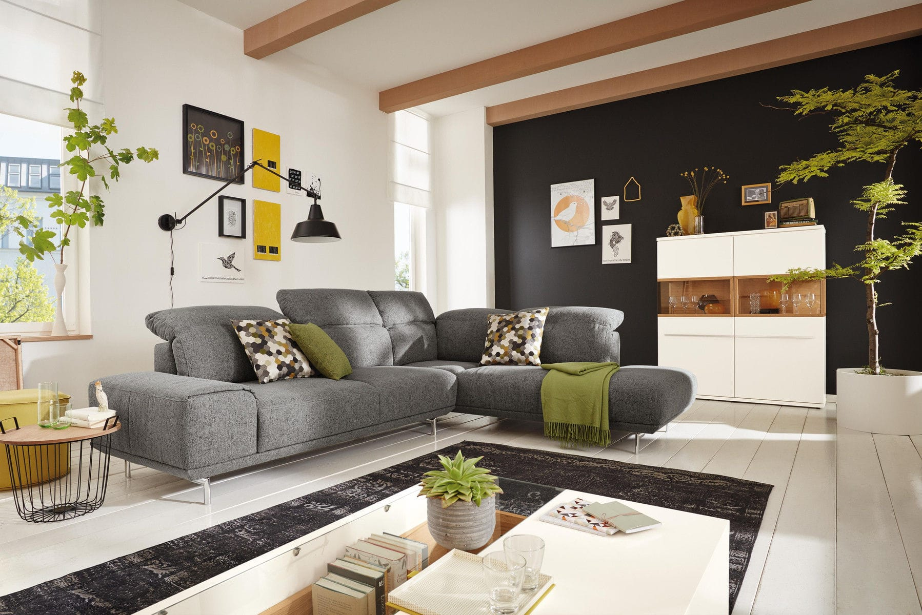 Modular Sofa Contemporary Fabric Leather