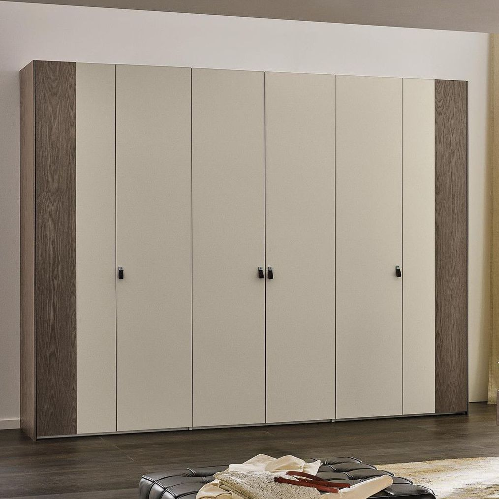 Contemporary Wardrobe / Lacquered Wood / Folding Door / With Swing Doors    AIRLINE