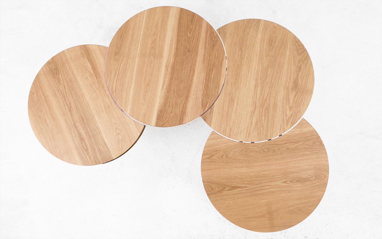 ... Contemporary Coffee Table / Metal / Oak / Beech ORUGA Qowood ...