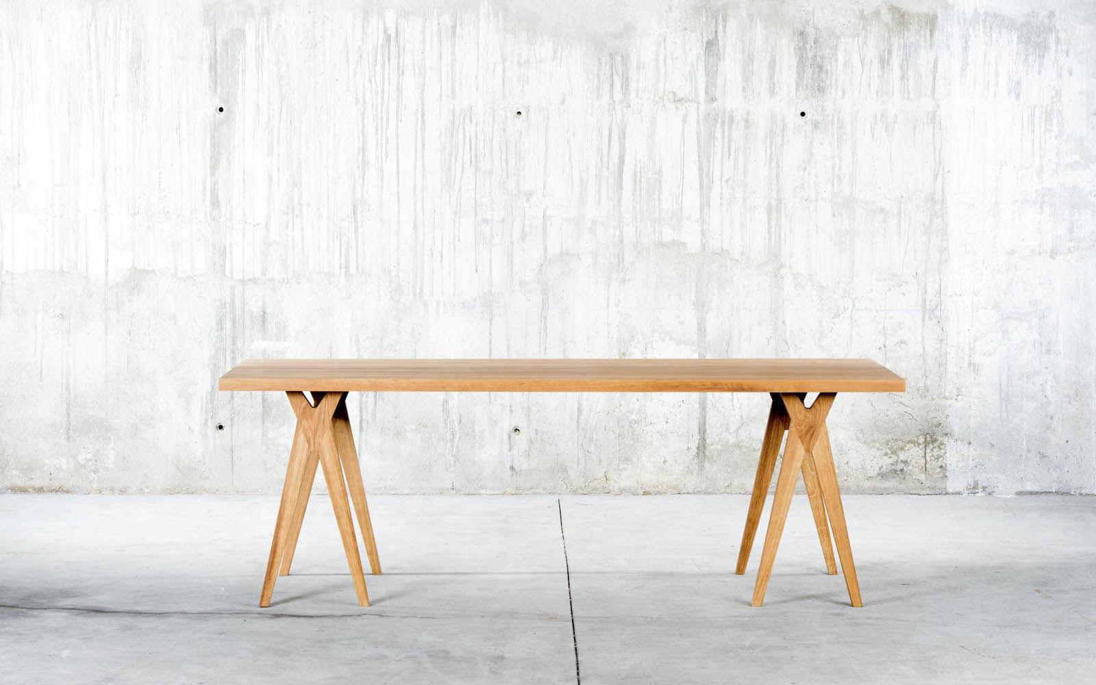 Contemporary dining table / oak / rectangular - YOY - qowood