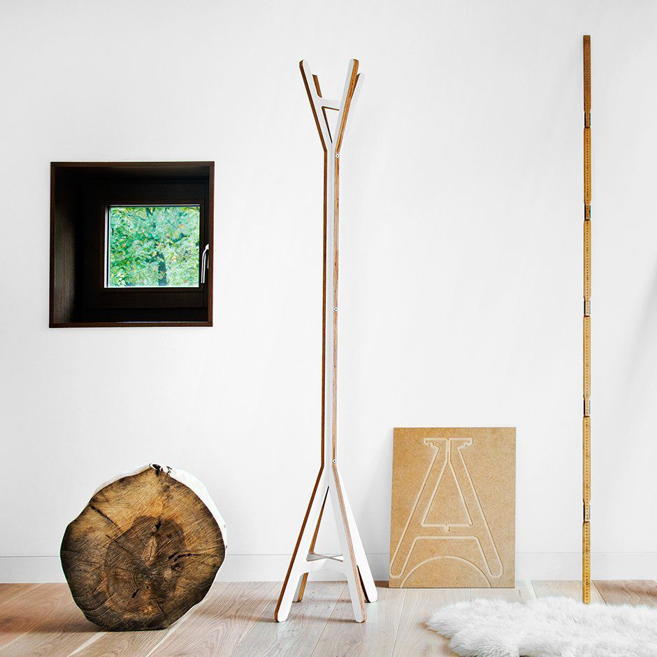 floor coat rack  contemporary  wooden  byalex -  floor coat rack  contemporary  wooden byalex