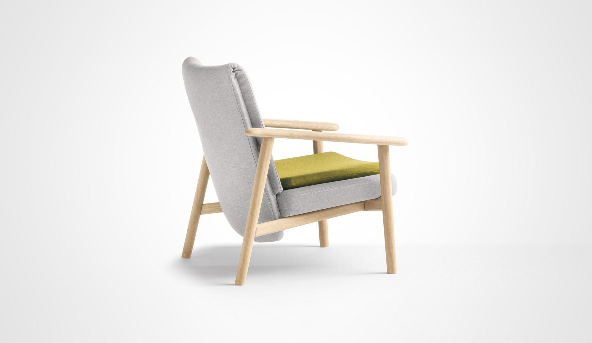 Merveilleux Scandinavian Style Armchair / Fabric / Oak / Walnut ...