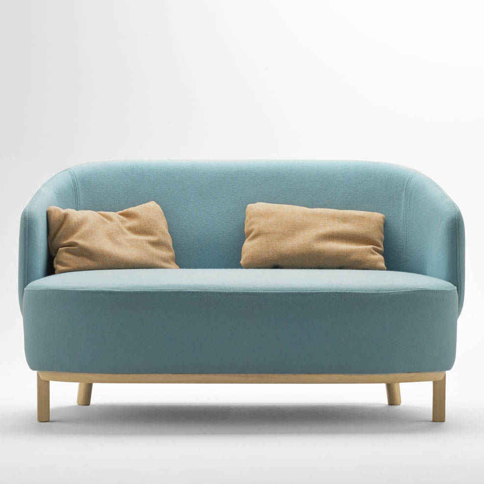 Attrayant Compact Sofa / Contemporary / Fabric / Wooden   CONCHA By Samuel Accoceberry