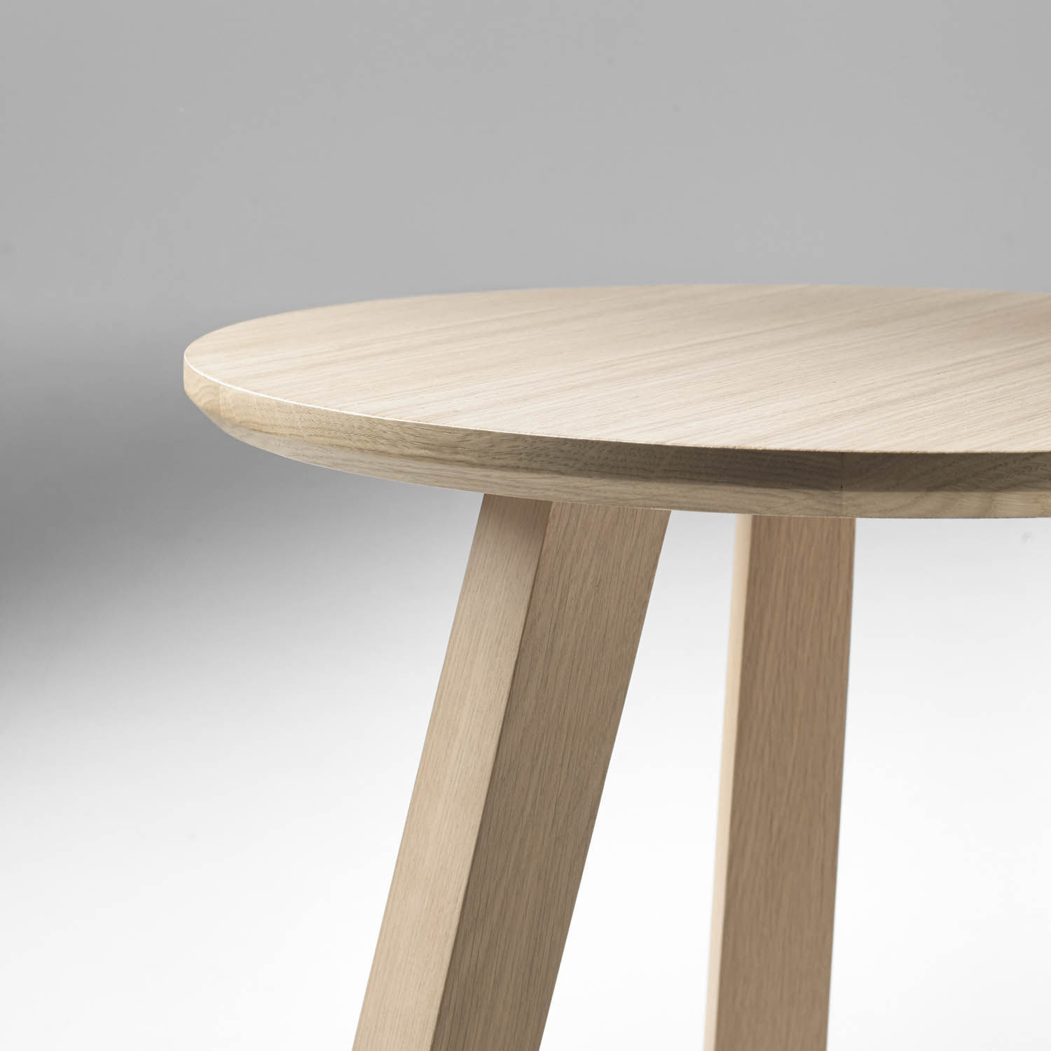 Contemporary coffee table oak round modular ESCAMP by Abad