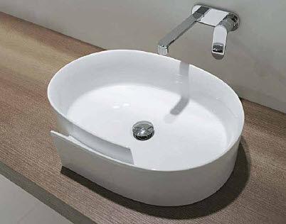 Countertop Washbasin / Oval / Ceramic / Contemporary - Roll: Rl56L