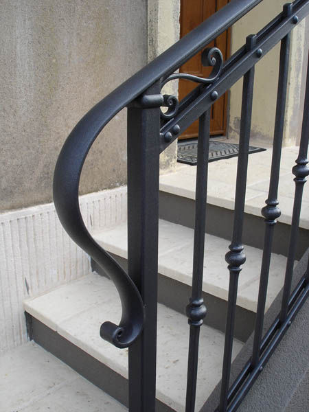 wrought iron railing with bars outdoor for stairs la maestria
