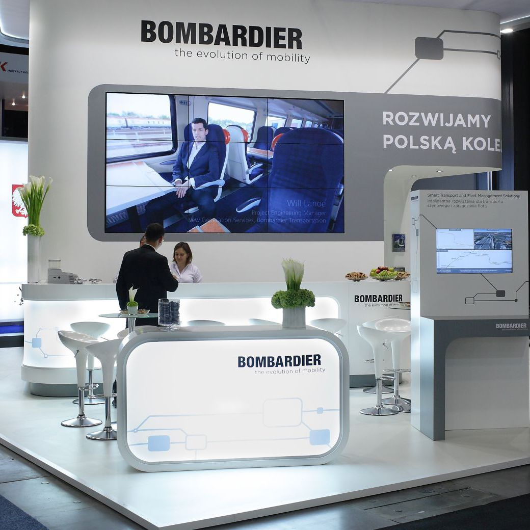 Exhibition Stand Transport : Exhibition stand bombardier melinski minuth sp z o o