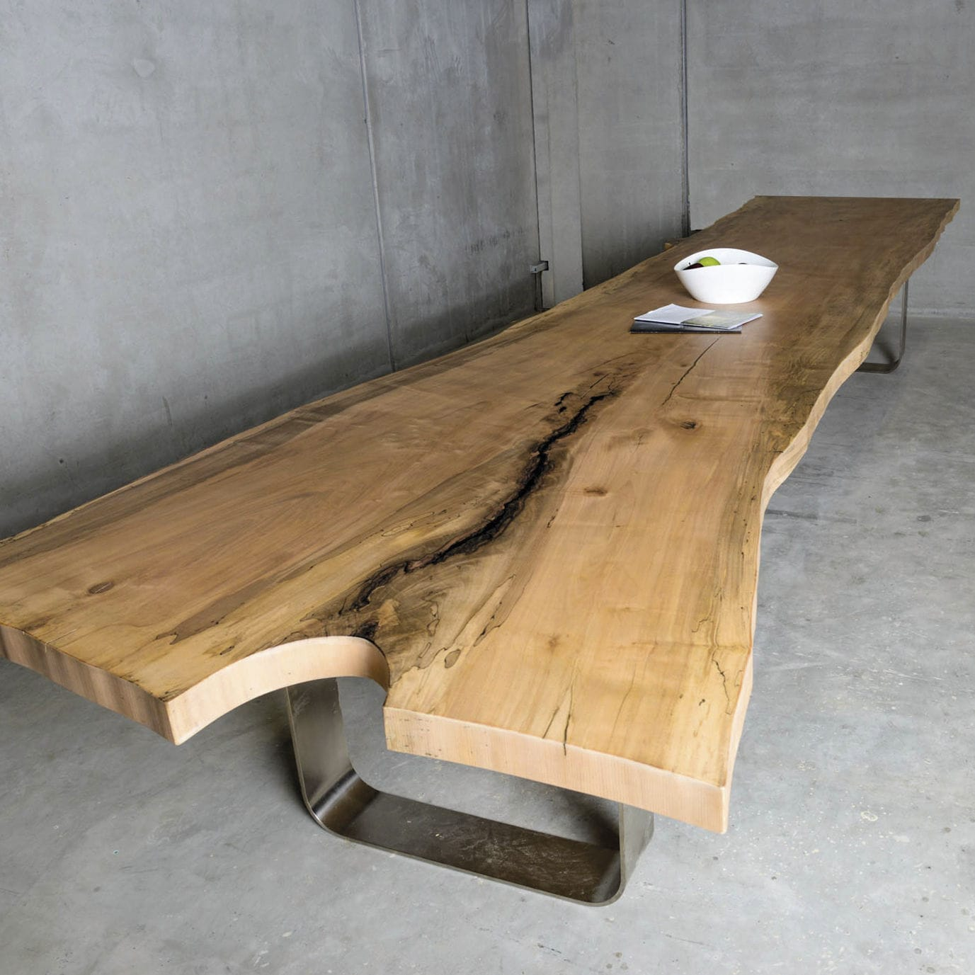 Contemporary Conference Table Wooden Metal Rectangular SUN - Wood and metal conference table
