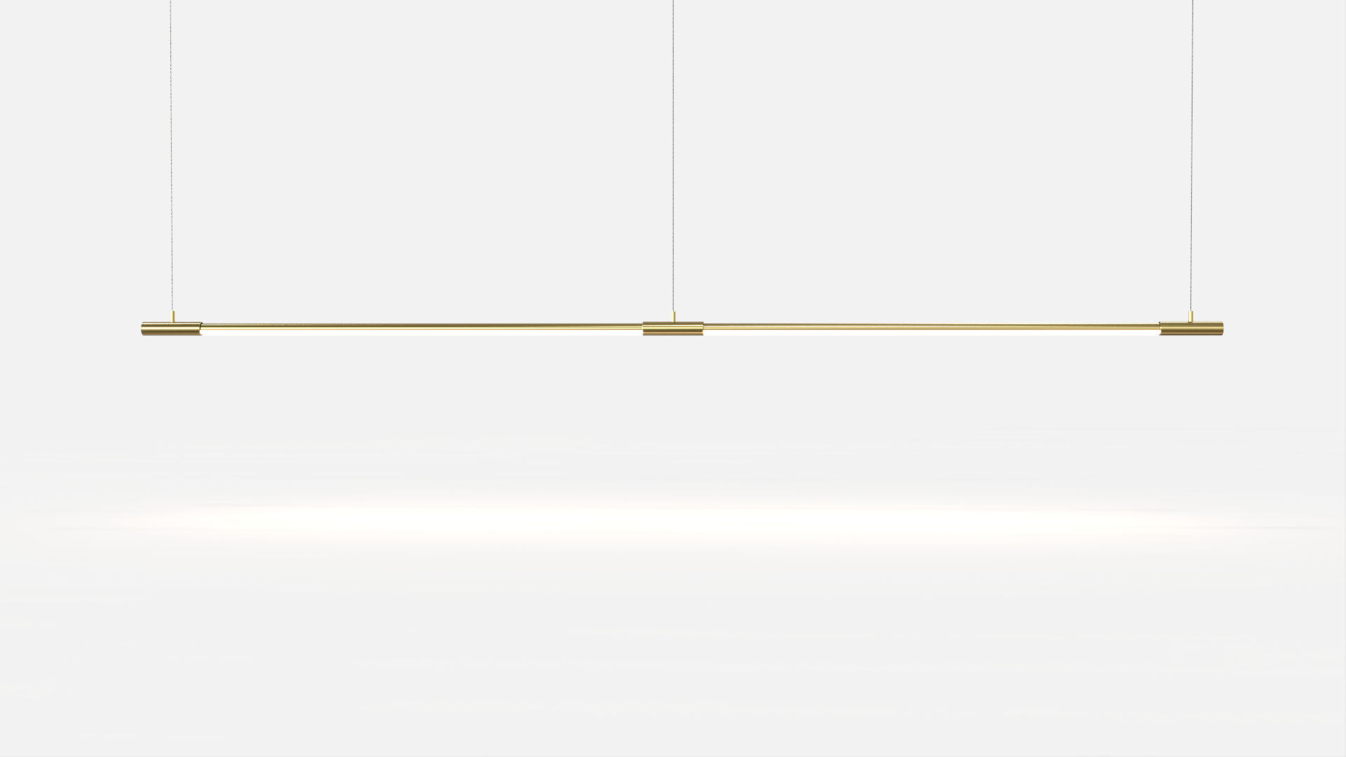 Hanging light fixture / LED / linear / brass - THIN by Peter Bristol ...