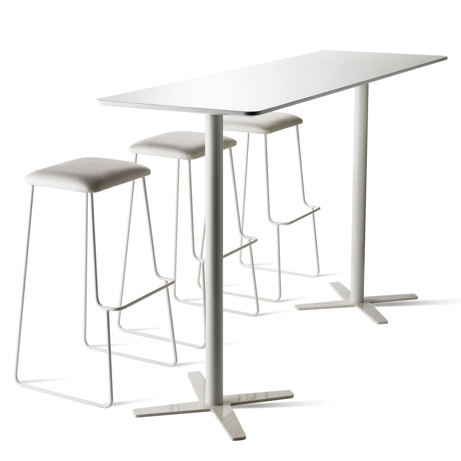 Contemporary High Bar Table / Metal / Solid Wood / HPL
