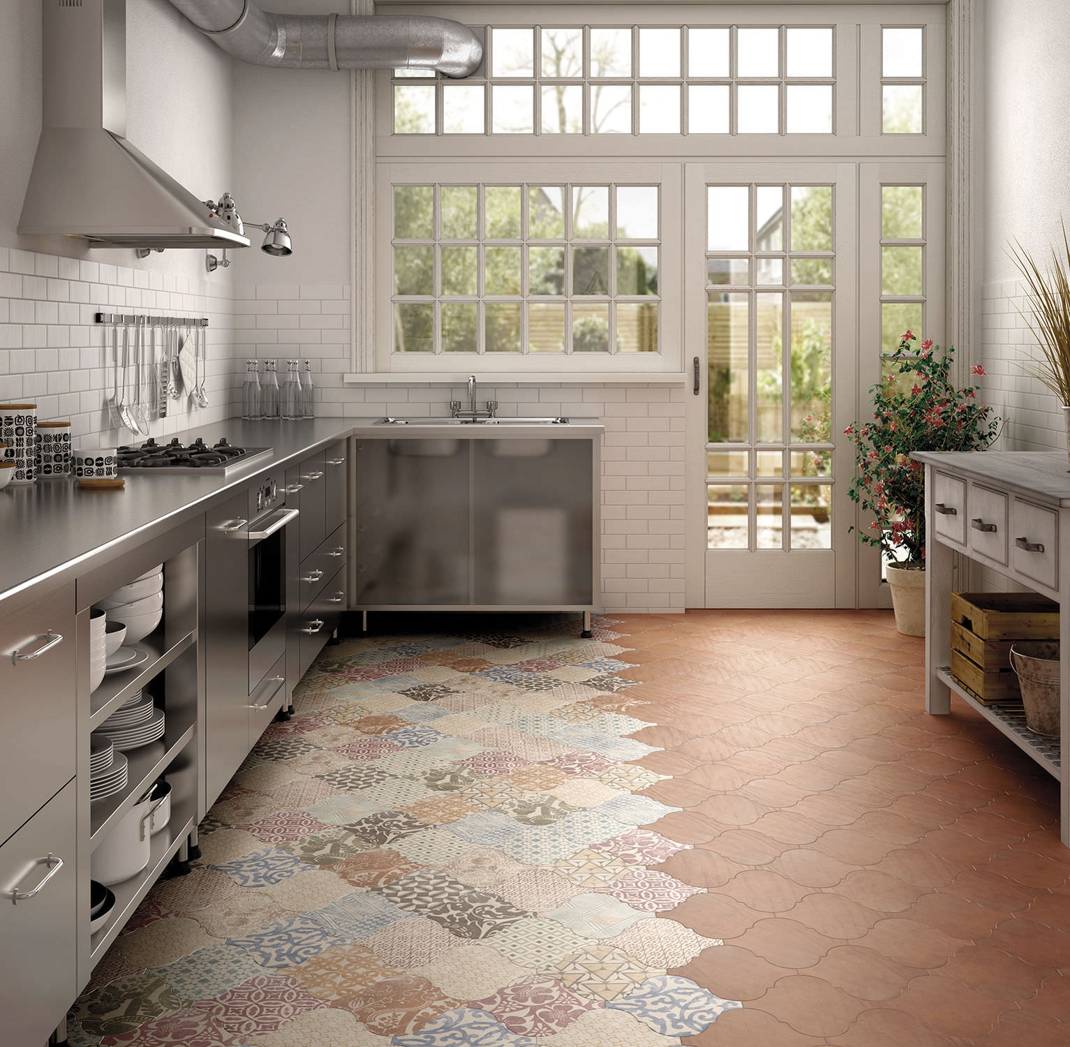 Terra Cotta Tile In Kitchen Kitchen Tile For Floors Terracotta Matte Curvytile Cotto