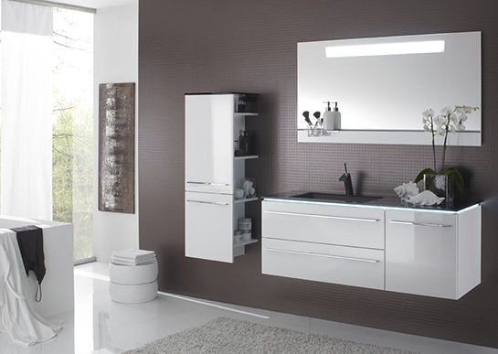 ... Free Standing Washbasin Cabinet / Wall Hung / MDF / Contemporary  LEONARDO BAD 109