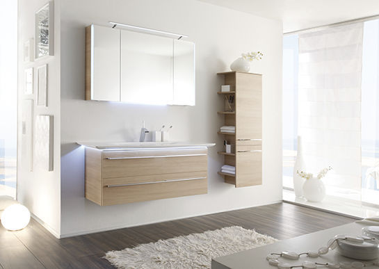 Elegant Wall Hung Washbasin Cabinet / MDF / Contemporary / With Drawers LEONARDO BAD  112 Pelipal ...