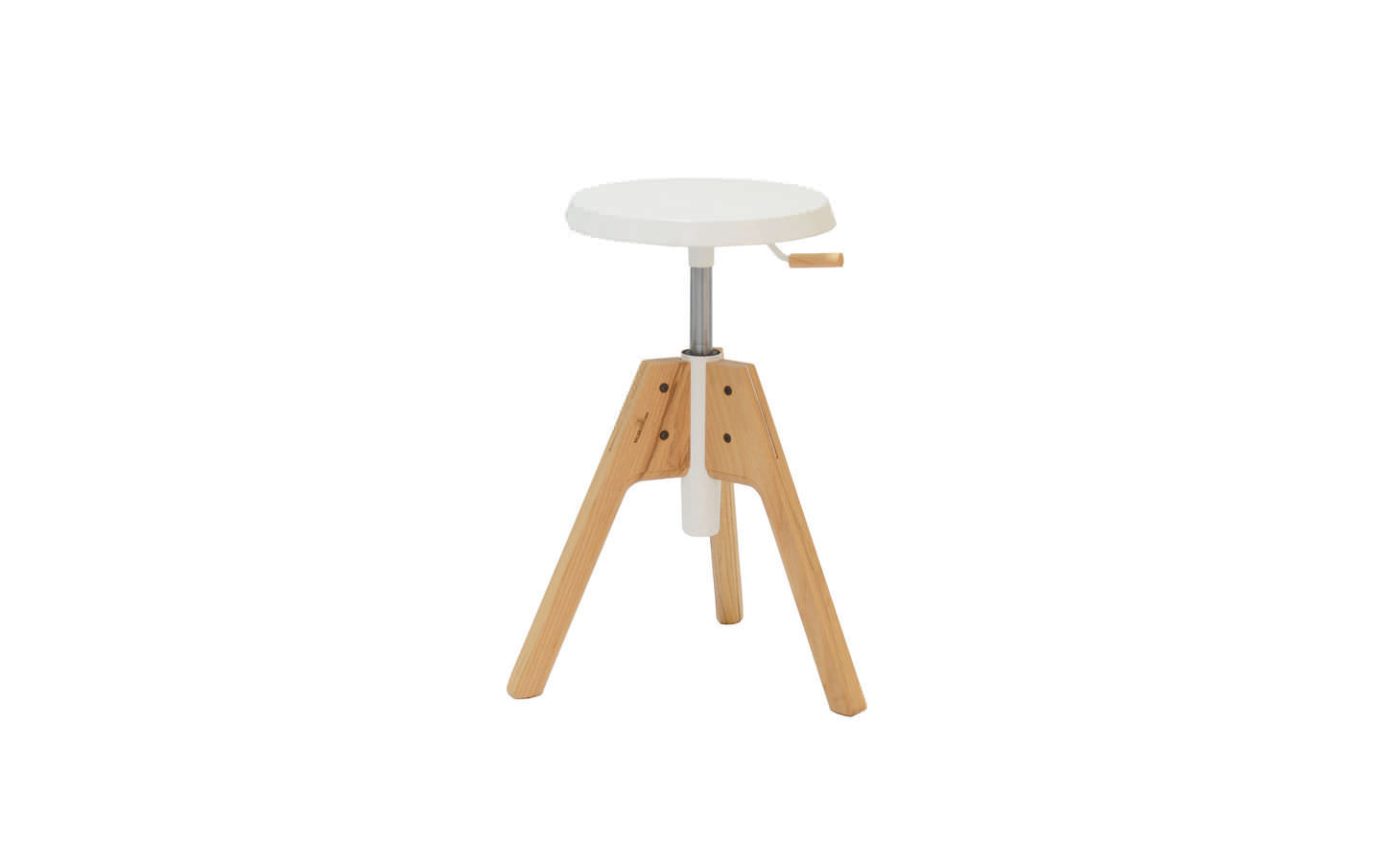 Charmant ... Contemporary Stool / Solid Wood / Ash / Adjustable Height ...