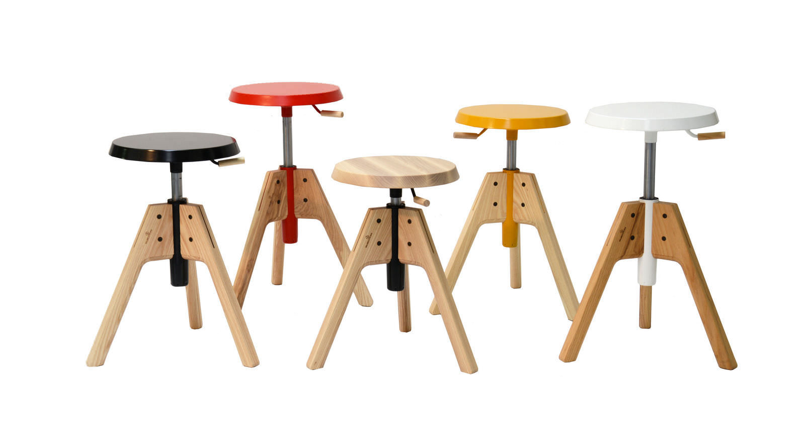 stool solid wood ash pico by emiliana design studio