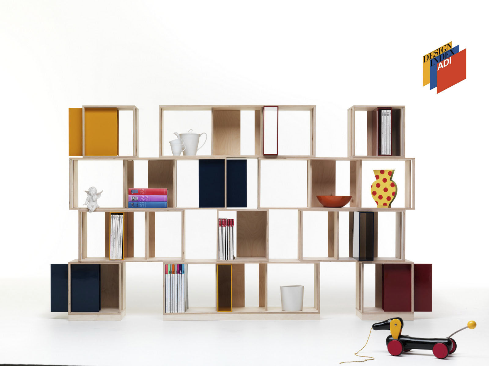 Modular shelf / contemporary / wooden / living room - TWIN BOX by ...